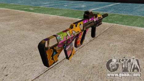 Автомат Steyr AUG-A3 Óptica Graffiti para GTA 4 segundos de pantalla