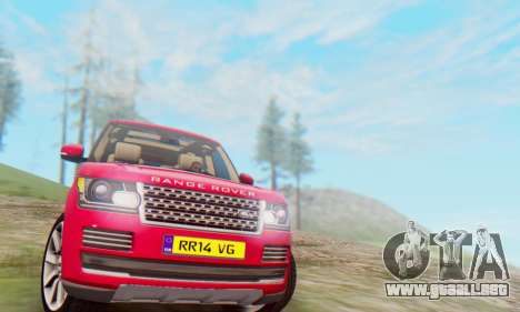 Range Rover Vogue 2014 V1.0 UK Plate para GTA San Andreas left