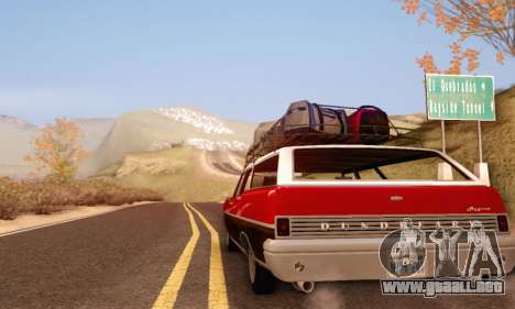 Dundreary Regina V1.0 para GTA San Andreas vista hacia atrás
