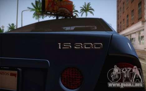 Lexus IS300 2003 para GTA San Andreas vista hacia atrás