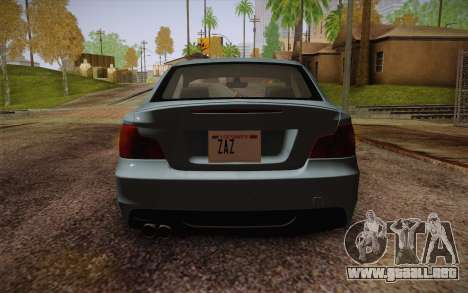 BMW 135i Limited Edition para visión interna GTA San Andreas