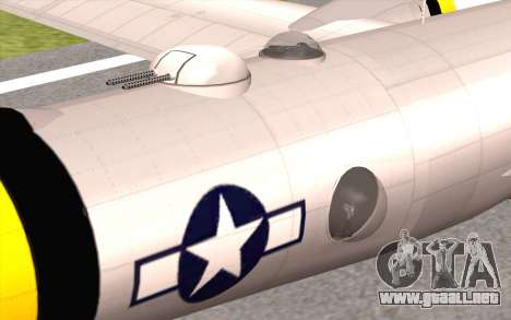 B-29A Superfortress para la visión correcta GTA San Andreas