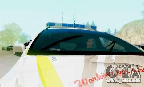 Ford Focus ST 2013 British Hampshire Police para la visión correcta GTA San Andreas