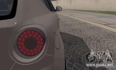 Afla Romeo Mito Quadrifoglio Verde para la vista superior GTA San Andreas
