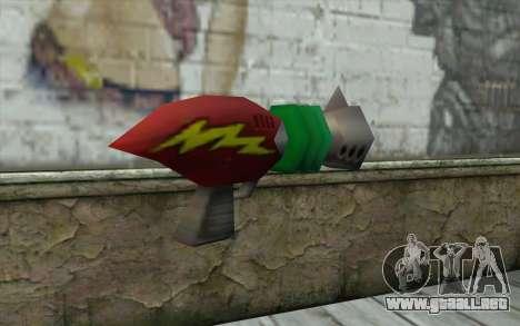 Cortexs Ray Gun para GTA San Andreas segunda pantalla