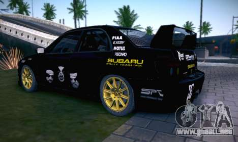 Subaru Impreza WRC STI Black Metal Rally para las ruedas de GTA San Andreas
