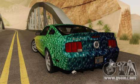 Ford Mustang GT para vista inferior GTA San Andreas