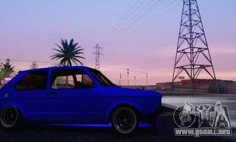 Volkswagen Golf Mk I Punk para la vista superior GTA San Andreas