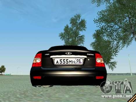 VAZ 2170 para GTA San Andreas vista hacia atrás