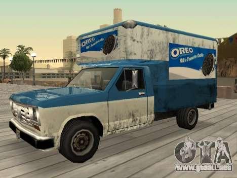 La nueva publicidad en los coches para GTA San Andreas novena de pantalla