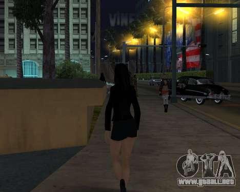 Black Dressed Girl para GTA San Andreas tercera pantalla