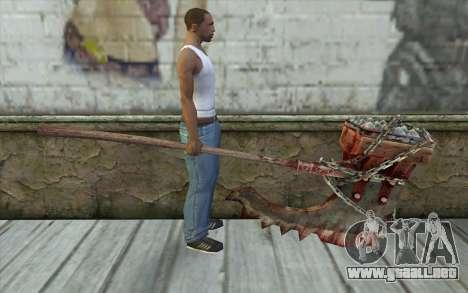 El hacha del verdugo (Resident Evil 5) para GTA San Andreas tercera pantalla