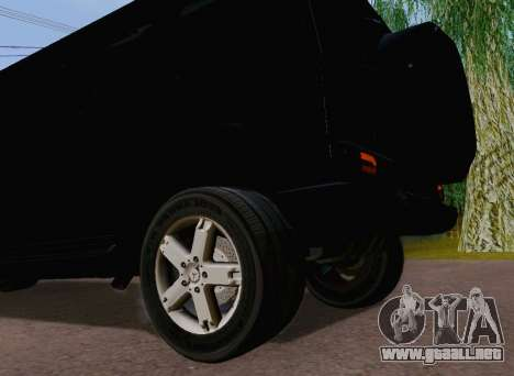Mercedes-Benz G500 Limousine para GTA San Andreas vista hacia atrás