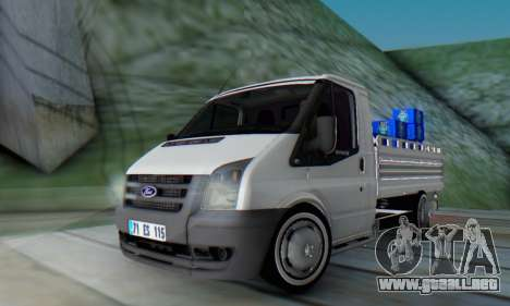 Ford Transit Pikap para GTA San Andreas vista posterior izquierda