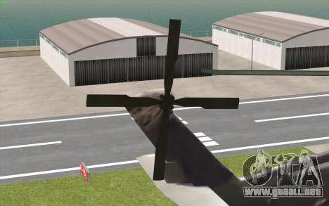 UH-60 Blackhawk para GTA San Andreas vista posterior izquierda