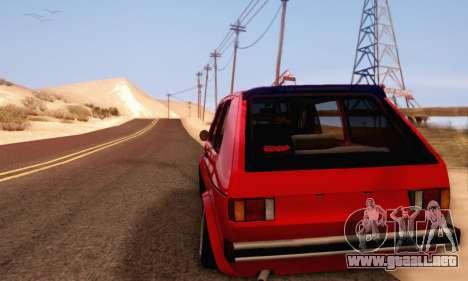 Volkswagen Golf Mk I Punk para GTA San Andreas left