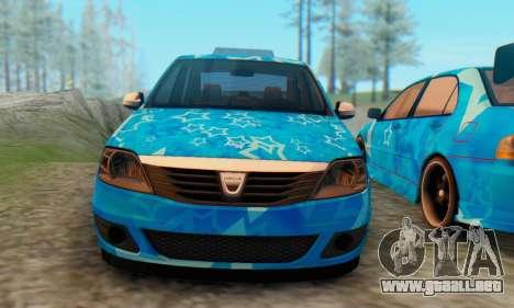 Dacia Logan Blue Star para GTA San Andreas vista hacia atrás