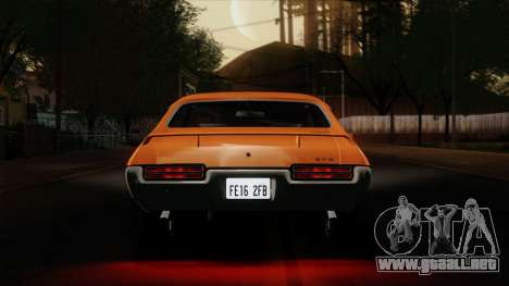 Pontiac GTO The Judge Hardtop Coupe 1969 para visión interna GTA San Andreas