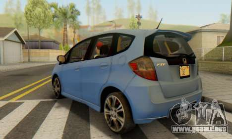 Honda Fit Stock 2009 para GTA San Andreas left