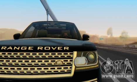 Range Rover Vogue 2014 V1.0 Interior Nero para vista lateral GTA San Andreas