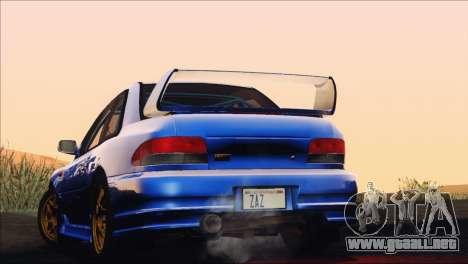 Subaru Impreza 22B STi 1998 para vista inferior GTA San Andreas