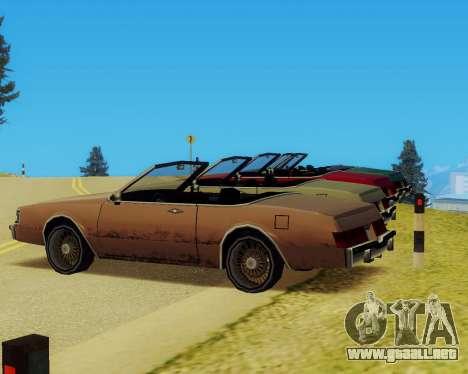 Majestuoso Convertible para la visión correcta GTA San Andreas