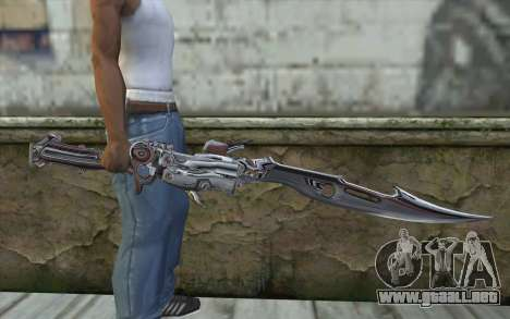 Lightnings Sword from Final Fantasy para GTA San Andreas tercera pantalla