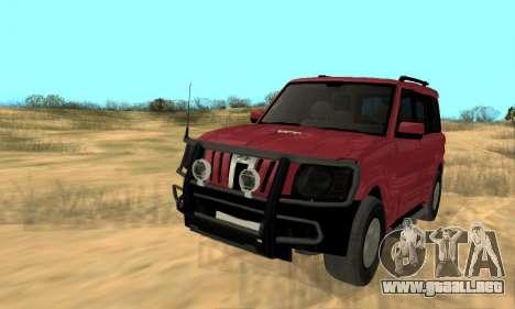 Mahindra Scorpio para visión interna GTA San Andreas