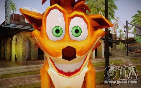 Crash Bandicoot (Crash Of The Titans) para GTA San Andreas tercera pantalla