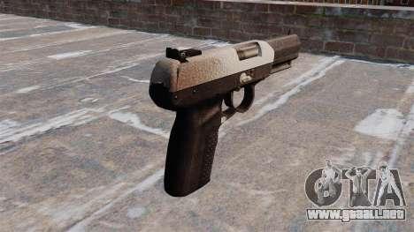 Pistola FN Five seveN Chrome para GTA 4 segundos de pantalla