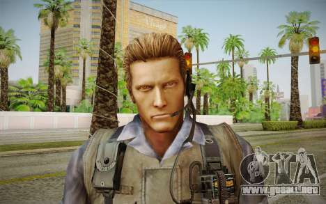 Wesker Stars from Resident Evil 5 para GTA San Andreas tercera pantalla