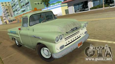 Chevrolet Apache Fleetside 1958 para GTA Vice City left