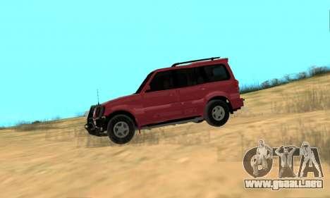 Mahindra Scorpio para GTA San Andreas vista posterior izquierda