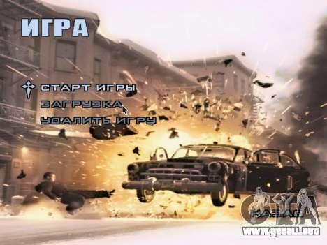 La pantalla de arranque de Mafia II para GTA San Andreas séptima pantalla