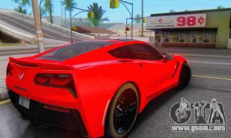 Chevrolet Corvette Stingray C7 2014 para visión interna GTA San Andreas
