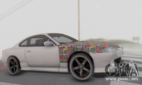 Nissan Silvia S15 Metal Style para visión interna GTA San Andreas