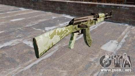 El AK-47 Verde camo para GTA 4 segundos de pantalla