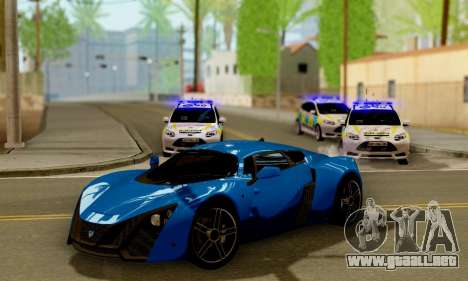 Ford Focus ST 2013 British Hampshire Police para visión interna GTA San Andreas