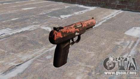 Pistola FN Five seveN tigre Rojo para GTA 4 segundos de pantalla