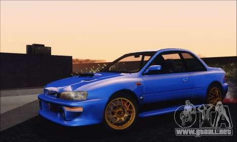 Subaru Impreza 22B STi 1998 para GTA San Andreas vista posterior izquierda