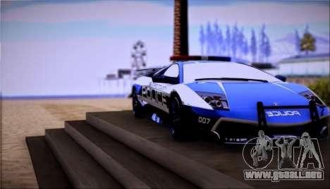 Lamborghini Críticos LP670-4 SuperVeloce, 2010 para GTA San Andreas vista posterior izquierda