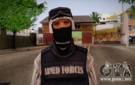 SWAT Snow Camo para GTA San Andreas tercera pantalla