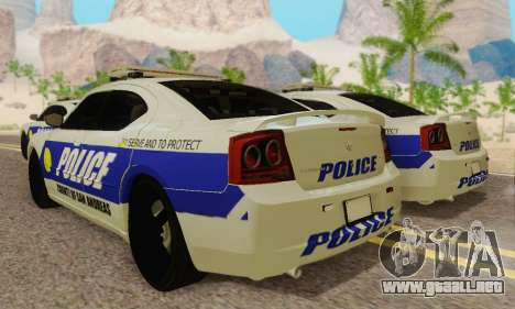 Pursuit Edition Police Dodge Charger SRT8 para GTA San Andreas vista hacia atrás