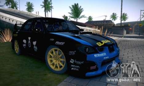 Subaru Impreza WRC STI Black Metal Rally para GTA San Andreas interior