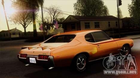 Pontiac GTO The Judge Hardtop Coupe 1969 para GTA San Andreas left
