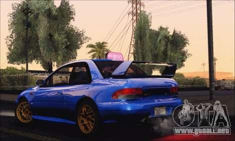 Subaru Impreza 22B STi 1998 para la visión correcta GTA San Andreas