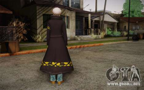 One Piece Trafalgar Law para GTA San Andreas segunda pantalla