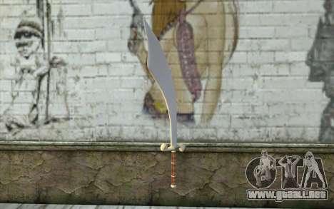 Sinbad Scimitar para GTA San Andreas segunda pantalla