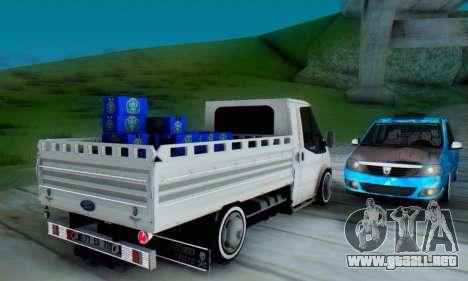 Ford Transit Pikap para la visión correcta GTA San Andreas