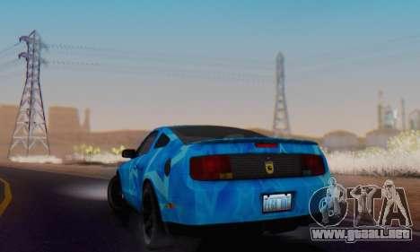 Ford Mustang Shelby Blue Star Terlingua para GTA San Andreas vista hacia atrás